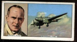 Tobacco Card, Carreras, FAMOUS AIRMEN & AIRWOMEN, 1936, Campbell Black, #48