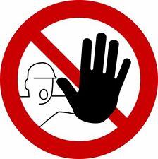 - STOP - Betreten verboten - Aufkleber Schild Zeichen 20cm #782