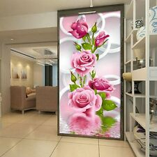 Needlework DIY Cross Stitch Embroidery 5D Diamond Painting Pink Rose Flower