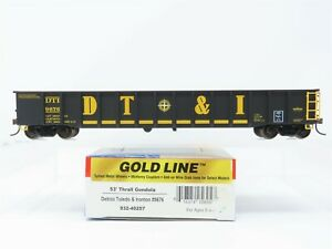 HO Walthers Gold Line 932-40257 DTI Detroit Toledo & Ironton 53' Gondola #9676