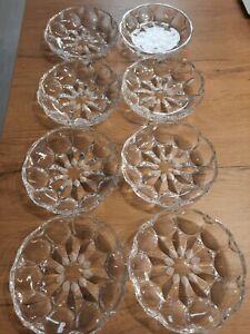 8 Dessertschalen Kompottschalen Salatteller Bleikristall, Ø 14,5 cm