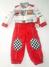 Disney Pixars Cars Lighting McQueen Costume Suit Light Up And Sounds Rare NWT