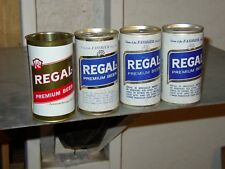 4 Diff Regal Beer cans Regal Brewin Miami Fla. 1=Ft 3=Pt 1 w/ Georgia Tax Stamp