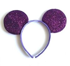 1PC PURPLE GLITTER MICKEY MOUSE EARS HEADBAND FITS MOST CHILDREN AND ADULTS