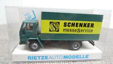 Rietze H0 60119 Ford Cargo Schenker Messe Service DJ 141 Neuwertig