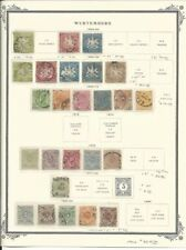 Wurtemberg Collection 1863 to 1900 on Scott Vintage Page