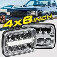 "2PCS 4x6"" 75W LED DRL LIGHT BULB CRYSTAL SEALED BEAM HEADLAMP HEADLIGHT TRUCK"