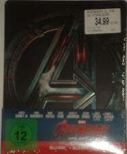 Marvel's Avengers Age of Ultron Blu Ray 3D 2D  Steelbook 2 Disc Edition NEU OVP