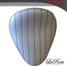 "La Rosa Harley Springer Style Mount Solo Seat - 13"" Silver Metallic Bates Design"