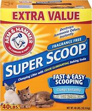Arm and Hammer Super Scoop Litter, Unscented, 40 Lbs