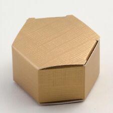 Gold Silk Hexagonal Box PACK OF 10 Wedding Favour Gift 11070