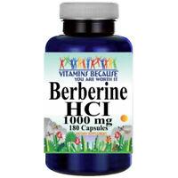 Berberine HCI 1000mg 180caps (Berberis Aristata) by Vitamins Because