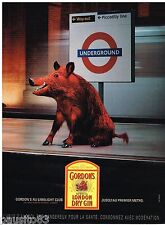 PUBLICITE ADVERTISING 075 2002 GORDON'S dry gin