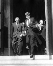 JOHN F. KENNEDY EXITS CATHEDRAL AFTER RED MASS SERVICE - 8X10 PHOTO (BB-343)