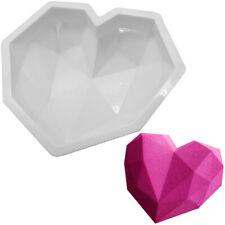 Diamond Heart Love Silicone Big Mousse Cake Mold DIY Nonstick Baking Pan