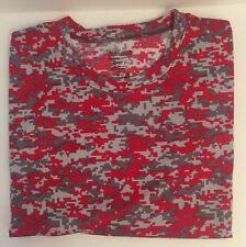 Digi Camo T Shirt Augusta Sportswear Moisture Wicking Red Crew Tee XL