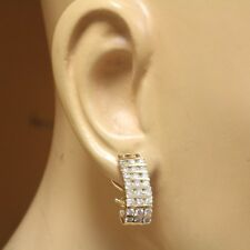 14k yellow gold 1.92ct I1 H diamond hoop earrings 11g estate vintage