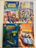 Star Wars Episode 1 Jedi Readers Step 1 2 3 & 4 Collectible Stickers 4 Books NEW