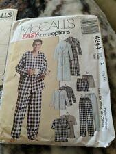 McCall's 4244 Men Sleepwear Wardrobe Pants Top Shorts Boxers House Clothes 46-52
