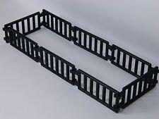 LEGO LADDER / FENCE BLACK (pack of 8) double clip castle