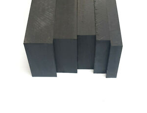 HDPE Flat Plastic Sheet Black White Engineering 25mm-60mm Thick Various Lengths