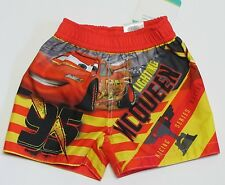 NWT Disney Baby Cars Lightning McQueen Infant Boys Swim Suit Trunks Size 6-9 M