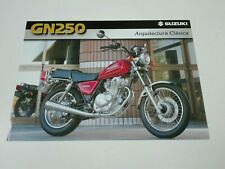 Prospectus Catalogue Brochure Moto Suzuki GN 250 1999 Espana