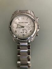 Michael Kors Blair MK5165 Wrist Watch for Women - White Gold, Diamond face