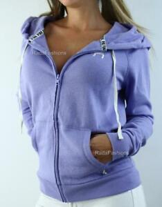 Victoria's Secret PINK Sweatshirt Perfect Full Zip Hoodie Fleece Lavender NWT