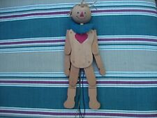 Vintage Pull String Wood Toy Doll