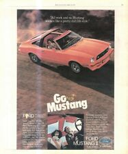 """(RST14) POSTER/ADVERT 13X11"""" THE FORD MUSTANG II 1978"""