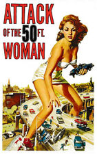 Attack of the 50 Ft (environ 15.24 m) Woman Vinyle Autocollant B-Movie Vintage Poster PIN-UP Horreur