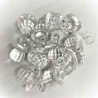 25 x Clear CRYSTAL Dummy / Pacifier Faceted Acrylic Charms, Baby Shower