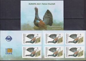 Slovakia 2021 Europa CEPT, Fauna, Birds, Western Capercaillie MNH** booklet