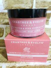 Crabtree Evelyn Rosewater & Pink Peppercorn Hydrating Body Scrub 7.7 oz. SEALED