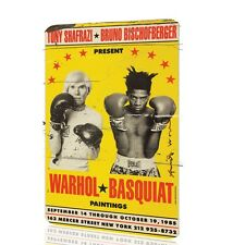 Metal Sign Andy Warhol Basquiat Boxing Poster Art Wall Garage Classic Vintage