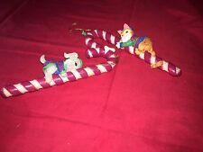 Avon Christmas 1996 Candy Cane Dog/ Bone Cat/ Fish