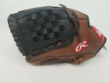 Rawlings Baseball Glove Premium Series Brown Basket Web Left Handed 11.5 D115PT