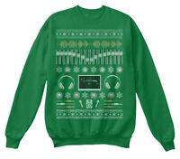 Audio Engineer Ugly Holiday Sweater Hanes Unisex Crewneck Sweatshirt