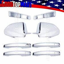 For Cadillac CTS 2008-2011 Chrome Covers Set Front Fog Lights +Mirrors +4 Doors