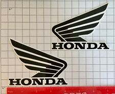 Honda Wings BLACK & White sticker decals 500 Fourtrax Rubicon 130mm fuel tank