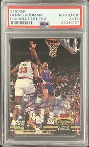 Dennis Rodman Signed 1993 Topps #314 TSC Pistons Card Sticker Auto HOF PSA/DNA