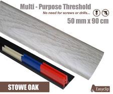 Stowe Oak Multi Floor Threshold Strip 50mmx90cm Multi-Height/Pivot Easyclip