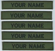 Irish Defence Forces X 5 Name Strips Name Tags Tapes Irish Defence Forces Issue