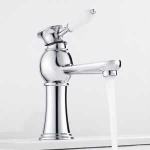 Luxury Bathroom Taps Basin Mixer Tap Ceramic Handle Brass Cloakroom Tap Faucet /