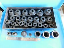 USED , SNAP ON 3/4 IN. DR. IMPACT SOCKET SET ,  30  SOCKETS  &  2  ADAPTORS