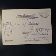 LETTRE PRISONNIER DE GUERRE STALAG II D 03.10.42 KRIEGSGEFANGENENPOST POW