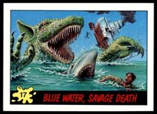 Topps Dinosaurs Attack 1988 Card - Blue Water, Savage Death No. 17