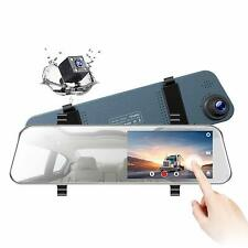 """Dash Cam with Backup Camera TOGUARD 5"""" FHD 1080P Touchscreen Front and Rear Dual"""