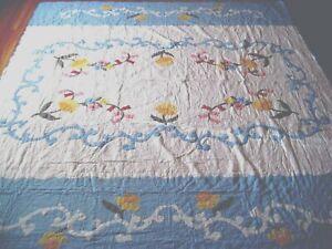 "NEW Handmade Floral  Pattern Quilt  87"" x 87"""